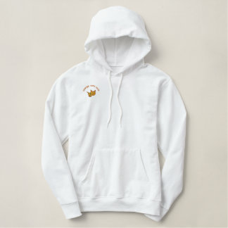 Orange Cat Lover Embroidered Embroidered Hoodie