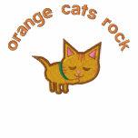 Orange Cat Lover Embroidered Hoodies