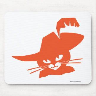 Orange Cat Mouse Pad