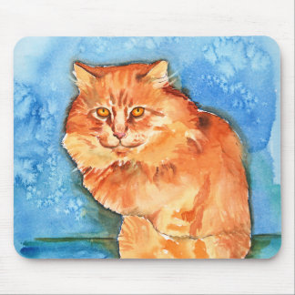 Orange Cat Mouse Pads