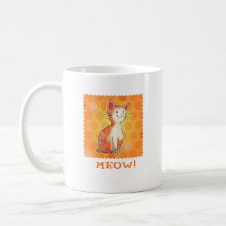Orange Cat Mug(left handle)