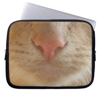 Orange Cat Nose Computer Sleeve