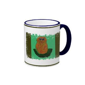Orange Cat on Sage Mug