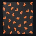 "Orange Cat Pattern Bandana<br><div class=""desc"">.</div>"