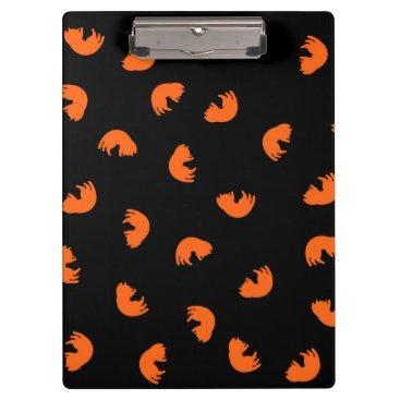 Beach Themed Orange Cat Pattern Clipboard
