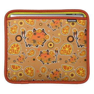 Orange Cat Pattern iPad Sleeve