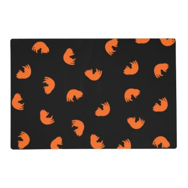 Beach Themed Orange Cat Pattern Placemat