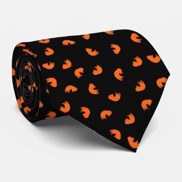 Beach Themed Orange Cat Pattern Tie