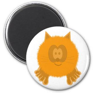 Orange Cat Pom Pom Pal Magnet