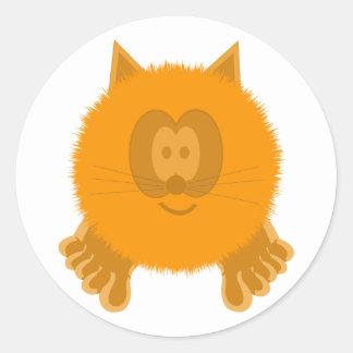 Orange Cat Pom Pom Pal Stickers
