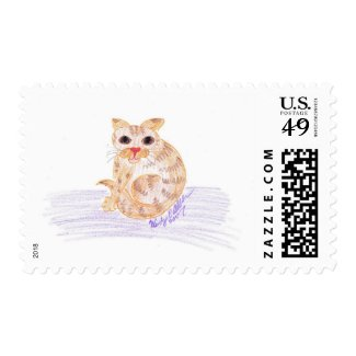 Orange Cat Postage