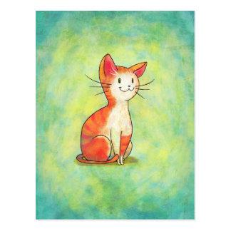Orange Cat Postcard