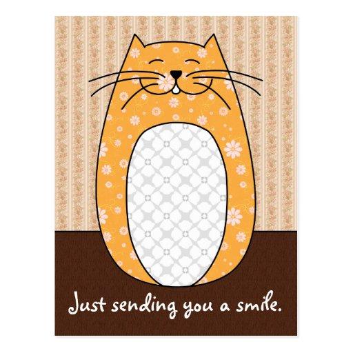 'Orange Cat' Postcard