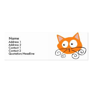 Orange Cat Profile Card Mini Business Card