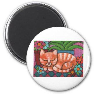 Orange Cat Refrigerator Magnet