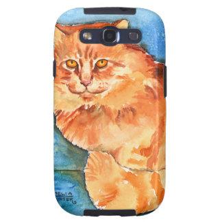 Orange Cat Samsung Galaxy S3 Case