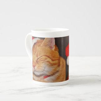Orange cat - Santa claus cat - merry christmas Tea Cup