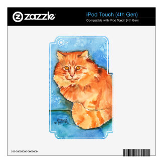Orange Cat Skin For iPod Touch 4G