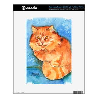Orange Cat Skin For The NOOK