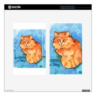 Orange Cat Skins For Kindle Fire
