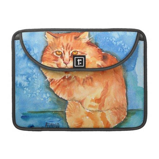Orange Cat Sleeves For MacBook Pro