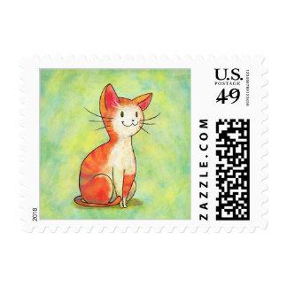 Orange Cat Stamp