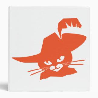 Orange Cat Vinyl Binder