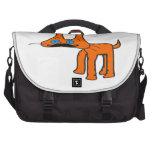 Orange Cat With A Mustache Bag For Laptop