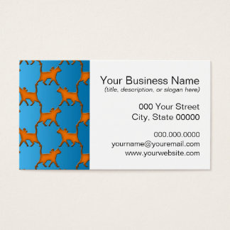 Orange Cats on Blue Background Pattern Business Card