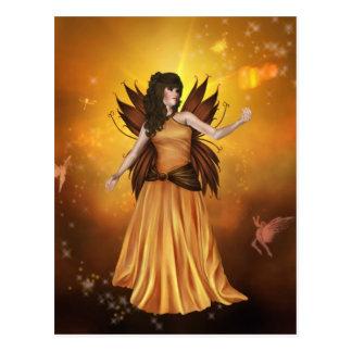 Orange Celestial Fairy Postcard