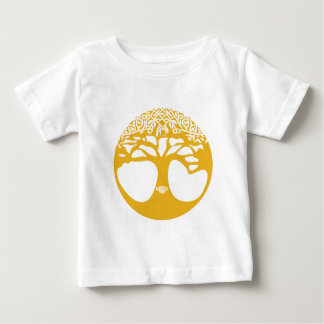Orange Celtic Tree of Life with Celtic Knot Leaves Baby T-Shirt