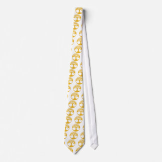 Orange Celtic Tree of Life with Celtic Knot Leaves Neck Tie