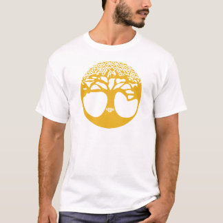 Orange Celtic Tree of Life with Celtic Knot Leaves T-Shirt