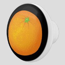 Orange Ceramic Knob
