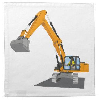 orange chain excavator cloth napkin