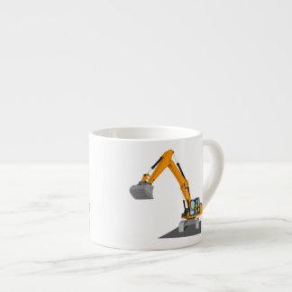 orange chain excavator espresso cup