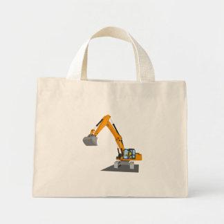 orange chain excavator mini tote bag