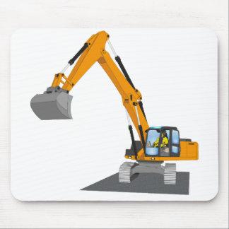 orange chain excavator mouse pad