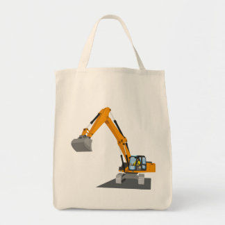 orange chain excavator tote bag