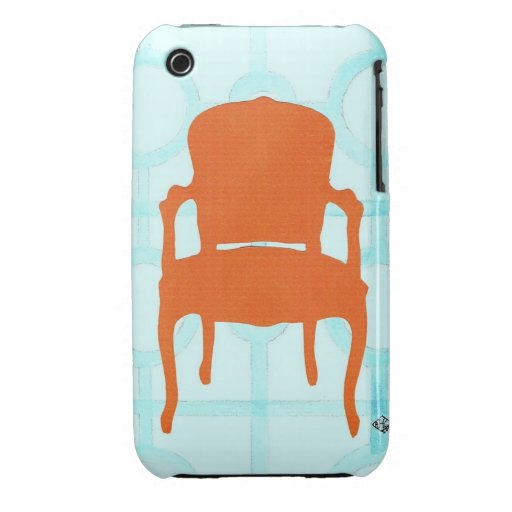 ORANGE CHAIR SILHOUETTE iPhone 3 Case-Mate CASES