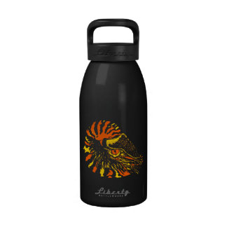 Orange Chambered Nautilus 16 oz Water Bottle