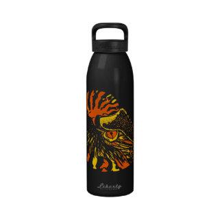 Orange Chambered Nautilus 24 oz Water Bottle