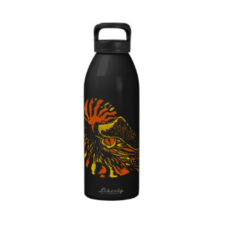 Orange Chambered Nautilus 32 oz Water Bottle