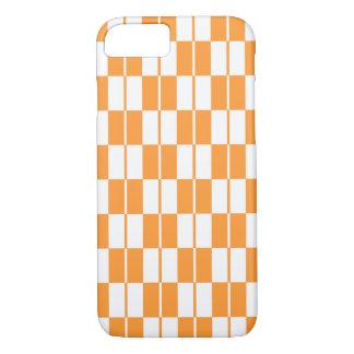 Orange Checker Board iPhone 7 Case
