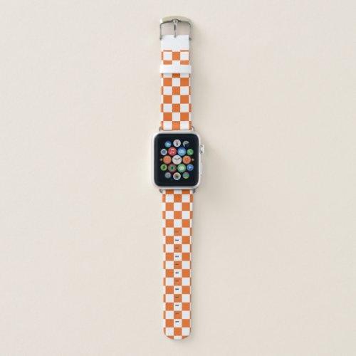 Orange Checkerboard Apple Watch Band