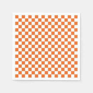Orange Checkerboard Napkin