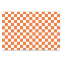 Orange Checkerboard Tissue Paper