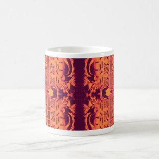 Orange Checkers Mug