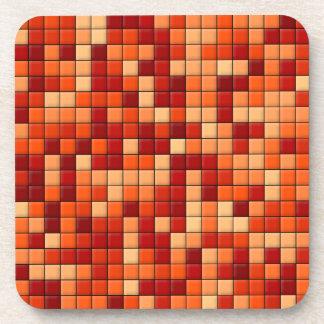 Orange Checks Coaster