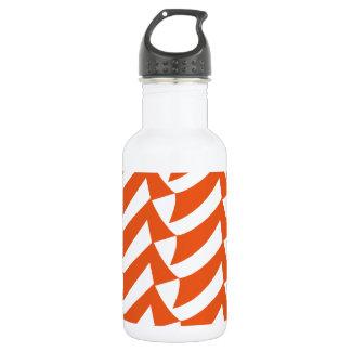 Orange Checks 18oz Water Bottle
